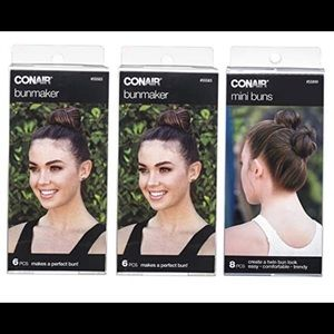 Conair Bun maker hair bun regular & mini NewNWT for sale